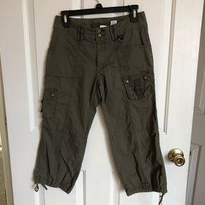 Dark green capri pants